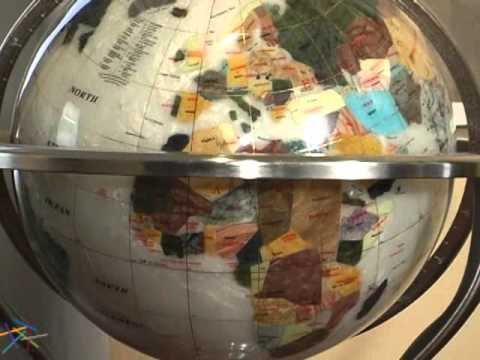 Belham Living Antiquador Mother Of Pearl 13 In Diam Gemstone Tabletop Globe    Product Review Video