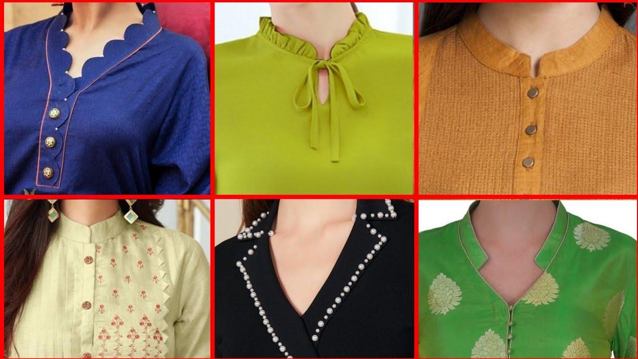 Latest And Trendy Collar Neck Design 2020 Designer Collar Collection Beautiful Collar Kurti Design Youtube