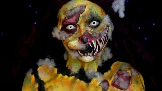 Demented Stuffed Animal Halloween SFX Makeup Tutorial | Jordan Hanz