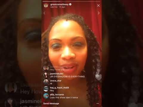 Sumayya Ali's Great Comet Instagram Livestream 1  83017