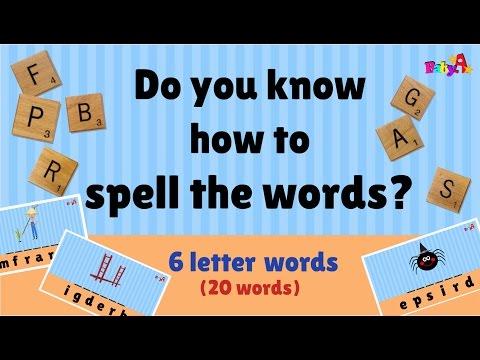 Spelling of words (6 letter) | Scrabble | Word Games 2 by BabyA Nursery Channel