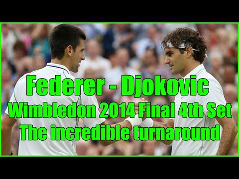 Federer vs Djokovic Wimbledon 2014 4th Set Final - The incredible comeback [HD]