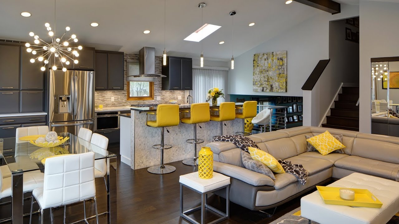Open Floor Plan Decorating Ideas Interior Design Living Room Youtube