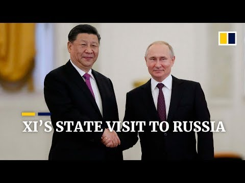 Chinese President Xi Jinping Meets Vladimir Putin On A Three-day State Visit To Russia