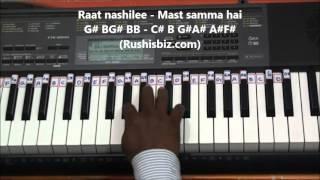 Roop Tera Mastana Piano Tutorials - Aaradhana