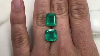 Large Emerald cut and asscher cut Colombian emerald loose gemstones