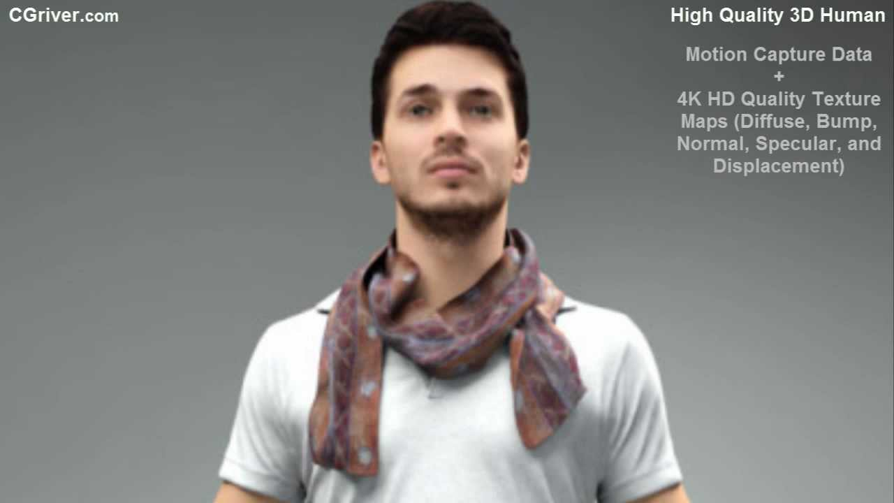 Rigged & Animated 3D Model (Human, People, Man, Male ...