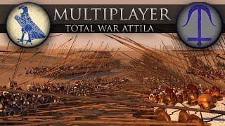 Ancient Empires Mod - Phalanx Face Off (Total War: Attila Online Battle 203)