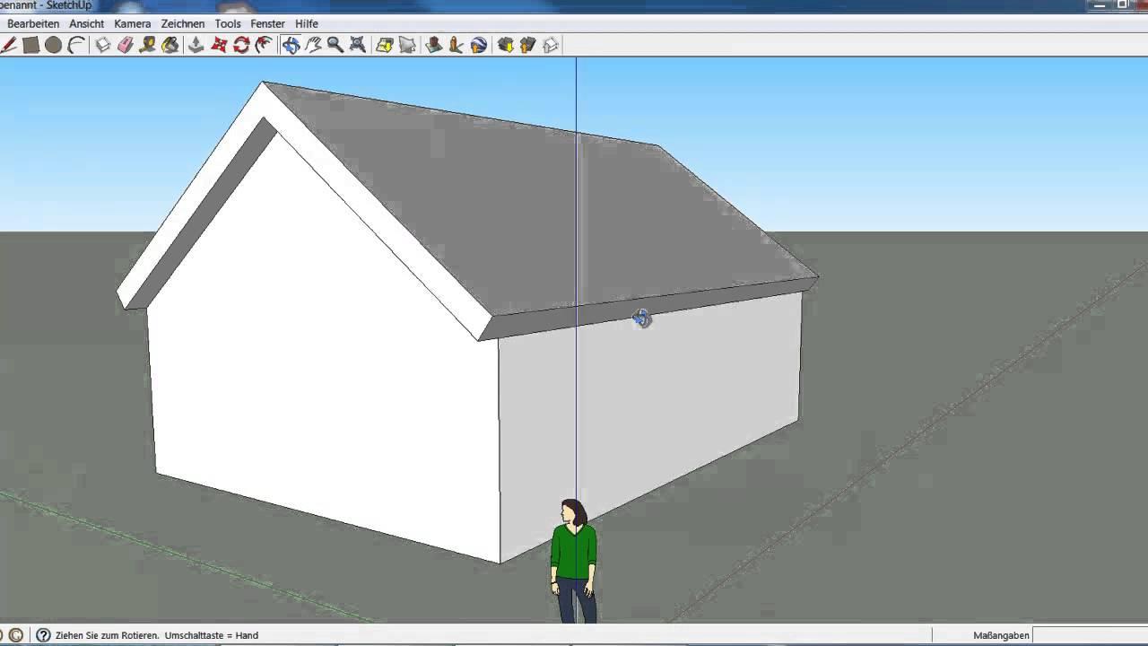 Haus mir dach und einem fenster youtube for Fenster 3d zeichnen