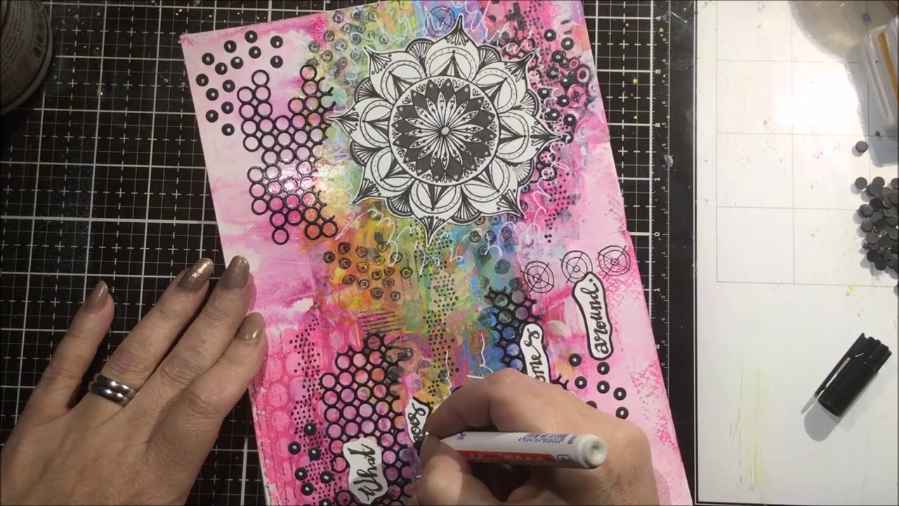 What Goes Around....Art Journal Page..Signature Collection Art By Marlene 5.0