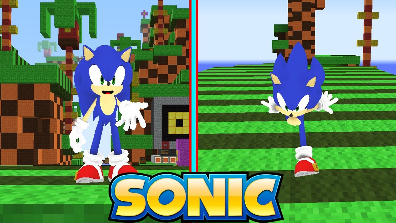 how to make a sonic in minecraft
