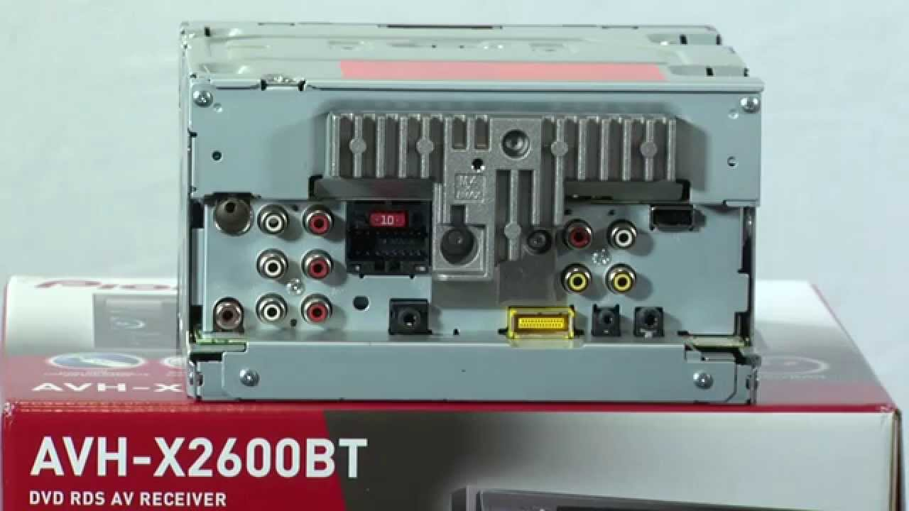 AVH-X2600BT - What\'s in the Box? - YouTube