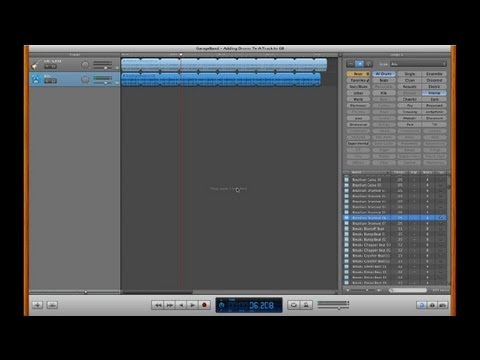 how to use drums on garageband