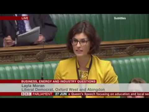 2017-06-27 - Layla Moran MP - First Question - Euratom