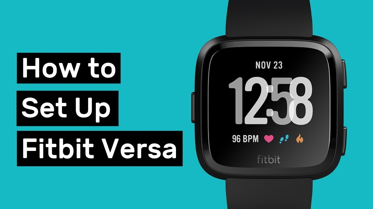 How to Set Up Fitbit Versa and Customize it  YouTube