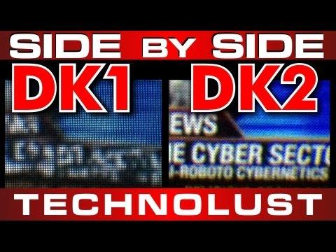 d5917576e4f OCULUS RIFT DK2 vs DK1 SIDE by SIDE LENS VIEW Screen Comparison in  TECHNOLUST