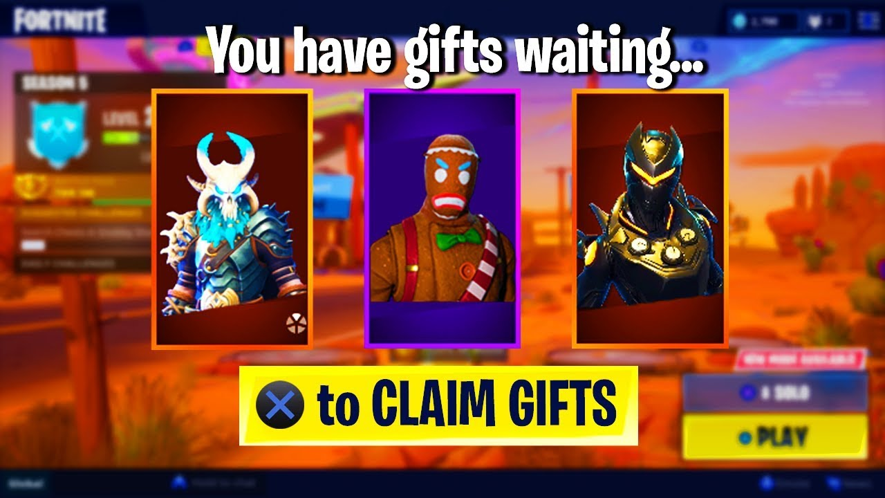 How to GIFT Skins in Season 5... (Fortnite Battle Royale ...
