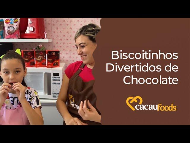 BISCOITINHOS DIVERTIDOS DE CHOCOLATE   Receitas Cacau Foods