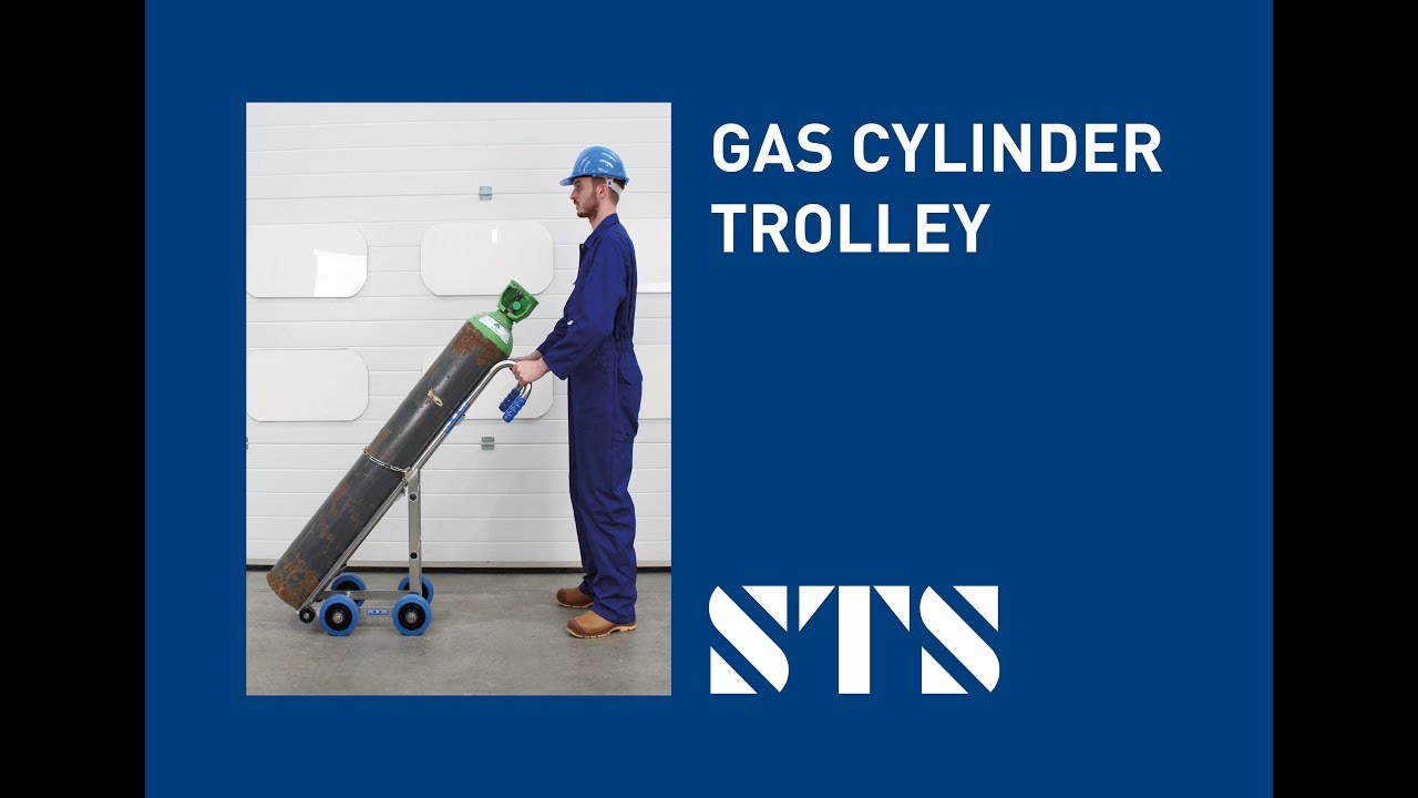 Gas Cylinder Trolley Stainless Steel, High Quality (Model: CTS01)