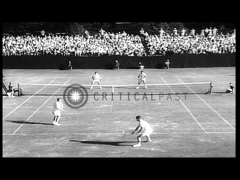 Mexican players Rafael H Osuna and Antonio Palafox win the US Tennis Open Doubles...HD Stock Footage