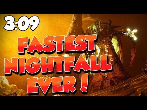 FASTEST Nightfall Ever! 3:09 Strange Terrain Speedrun [Destiny 2]