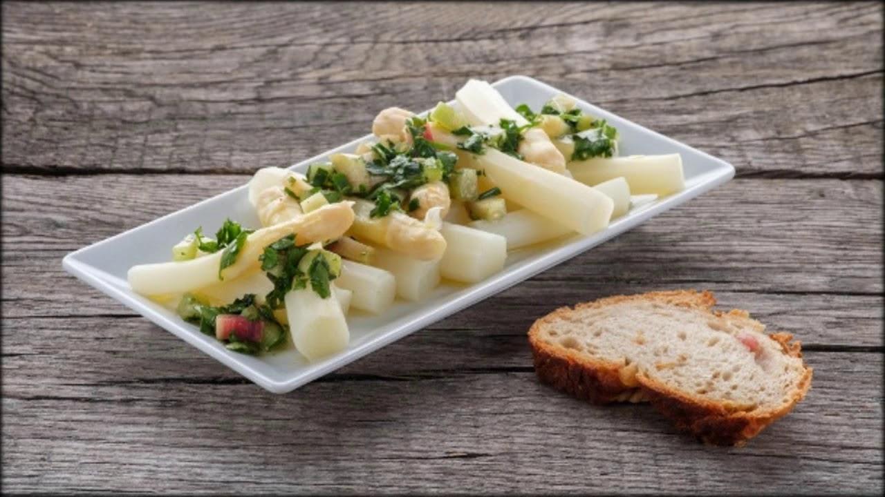 Spargelsalat: Einfache Rezepte für leichte Gerichte - YouTube