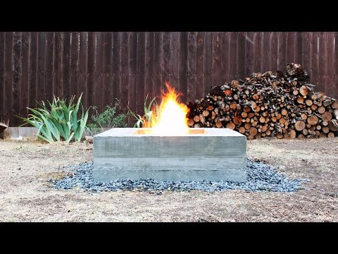 Build a Modern Concrete Fire Pit from Scratch