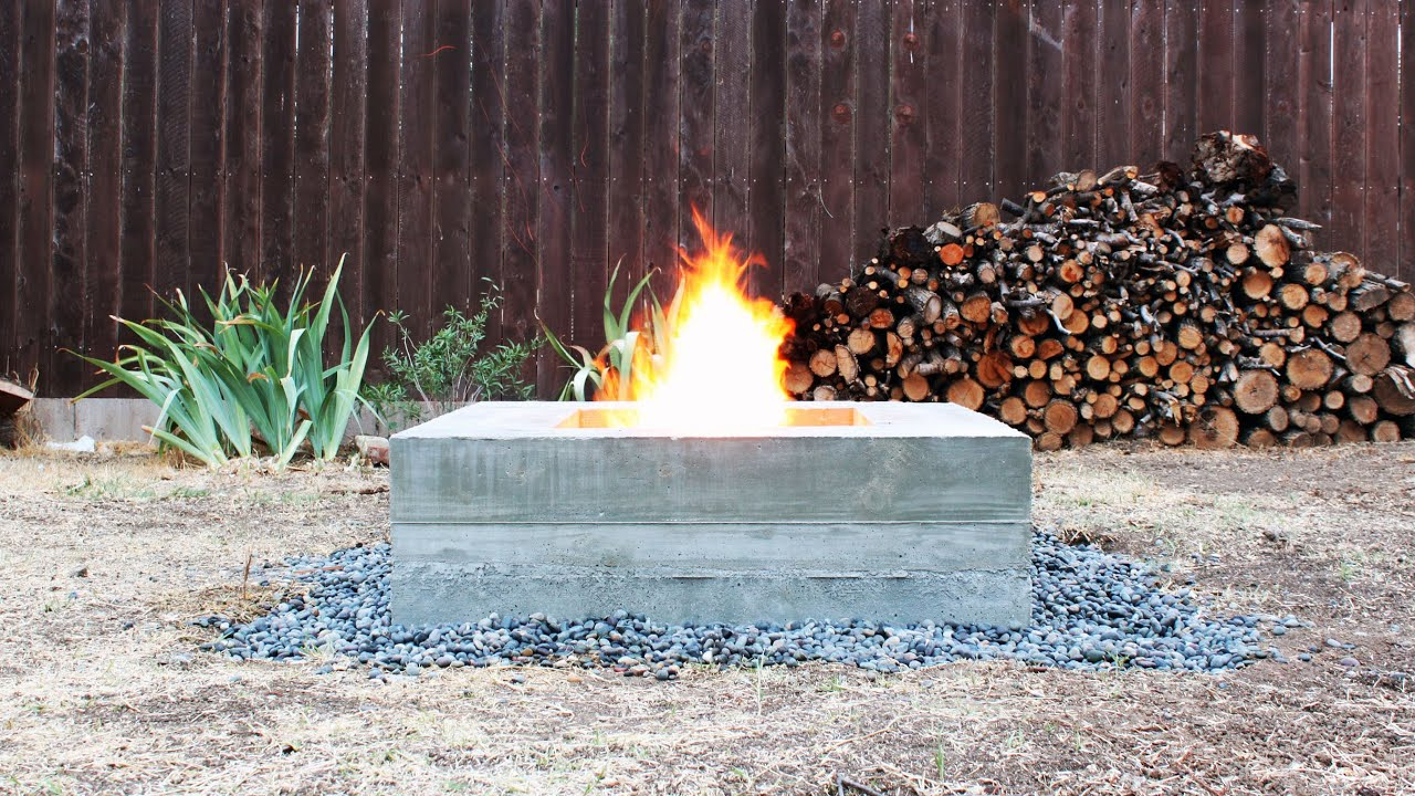 how to make an outdoor concrete fire pit youtube