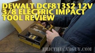 Dewalt Dcf813s2 12v 3/8 Electric Impact Tool Review -Ericthecarguy