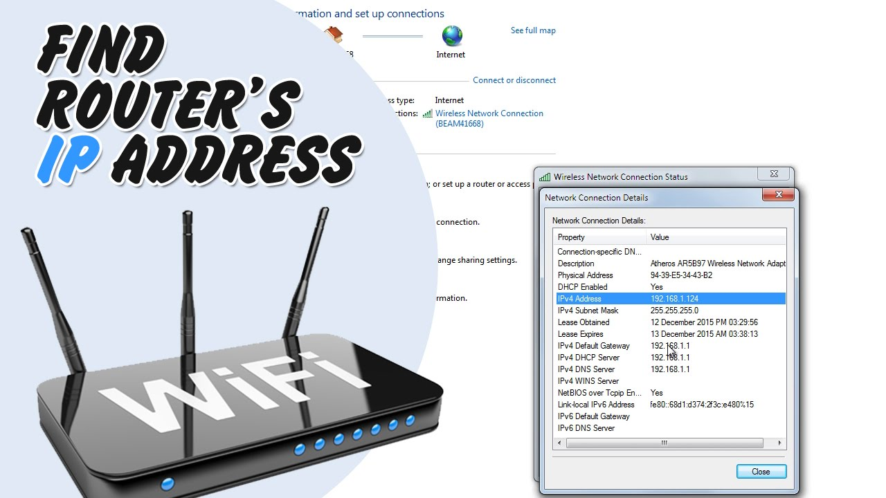 How to find routers ip address on windows computer or tablet youtube how to find routers ip address on windows computer or tablet keyboard keysfo Images