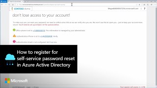 How to register for self-service password reset in Azure Active Directory