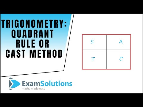 Quadrant Rule Or Cast Diagram Examsolutions Maths Revision Video