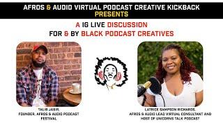 Afros & Audio IG Live - January 13, 2021