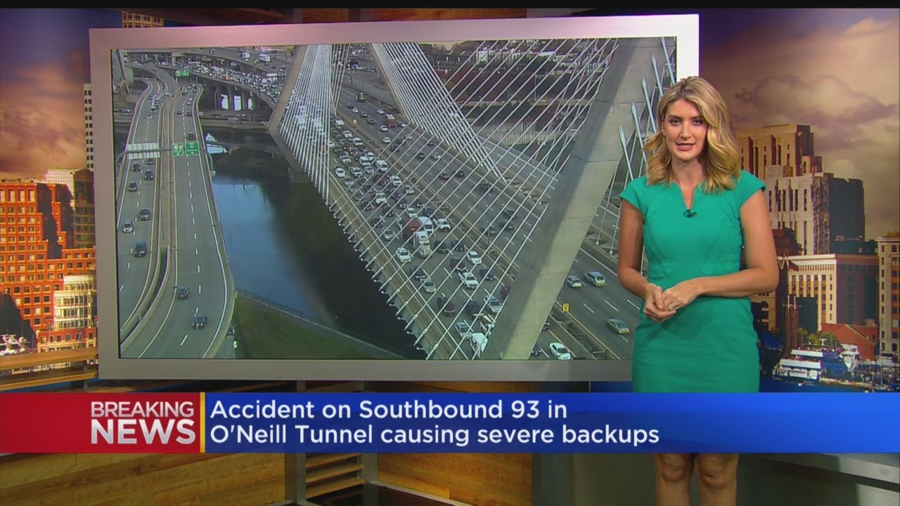Massive Traffic Delays On 93 South After O'Neill Tunnel Truck Crash