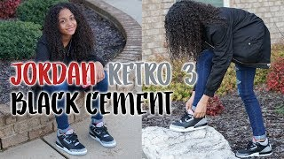 Jordan Retro 3 Black Cement | Unboxing, Styling and On Foot | LexiVee03