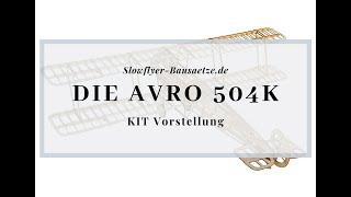[Modellschau] Avro 504K Doppeldecker Slow Flyer KIT, 505 mm Spannweite, 1/20 Maßstab, Balsa
