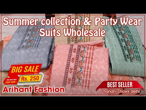 Summer collection & Party Wear Suits Wholesale Arihant Fashion ! from YouTube · Duration:  31 minutes 28 seconds