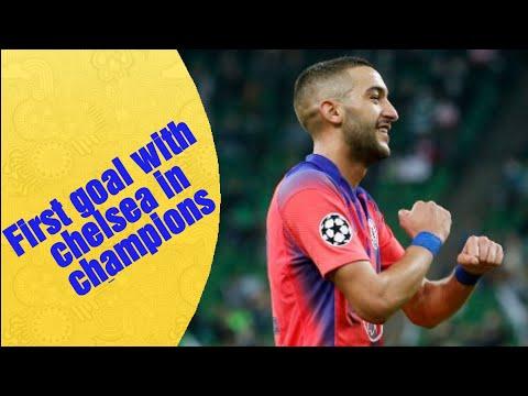 goal hakim ziyech Chelsea vs Krasnodar هدف حكيم زياش في مبارته الأولى في دوري الأبطال
