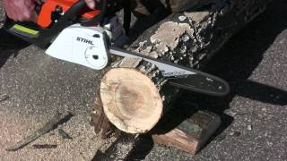 Sharpen a chain saw in two minutes with the Oregon PowerSharp