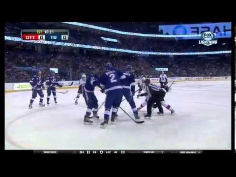 Tampa Bay Lightning vs. Ottawa Senators 4/9/13 -- Faceoff Fail