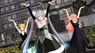 [Ryangamer thai] MMD - Galaxias! full ver เต้นกับ Miss Monochrome ทามกลางหิมะในเมือง Mp3