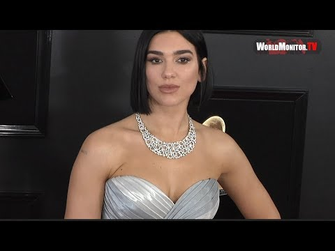Dua Lipa arrives at 2019 Grammy Awards Red carpet