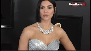 Dua Lipa arrives at 2019 Grammy Awards Red carpet