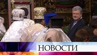 В Киеве верующие устремились в Киево-Печерскую Лавру, а руководство страны - в Софийский собор.