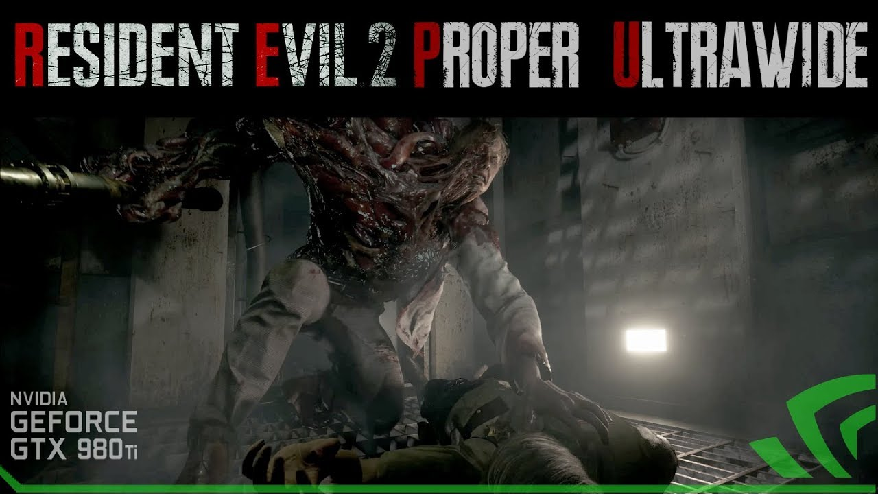 Resident Evil 2 Leon vs Birkin G1 Ultrawide Gameplay