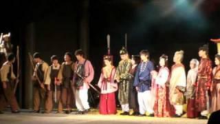 2009年明日香村ライトアップ時に上演された劇団「時空」の芝居「蘇我馬子」