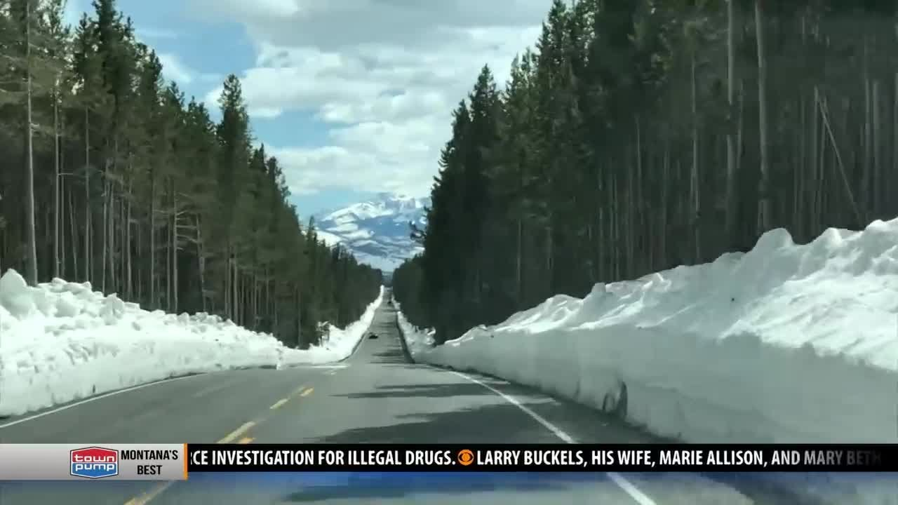 All roads but one now open in Yellowstone National Park on yellowstone national park home, yellowstone national park in april, oregon road conditions map, united states road conditions map,