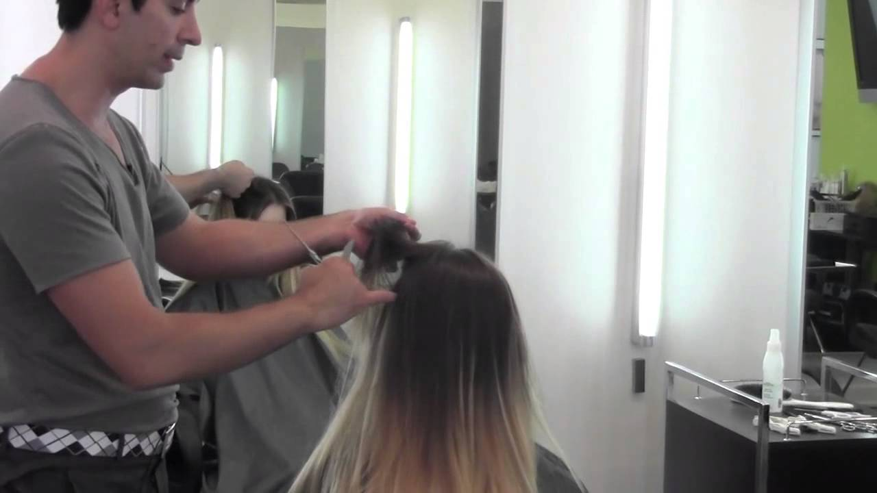 How To Cut Blend Hair Extensions For A Seamless Ombre Look Youtube