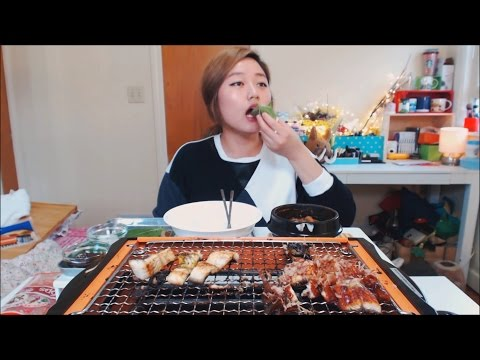 HOW TO | Enjoy Korean Grilled EEL at home Mukbang