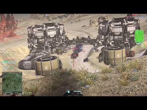 PlanetSide 2 Gameplay Prowler Tank.
